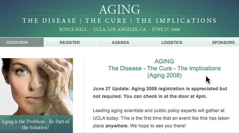 Leading up to Aging 2008